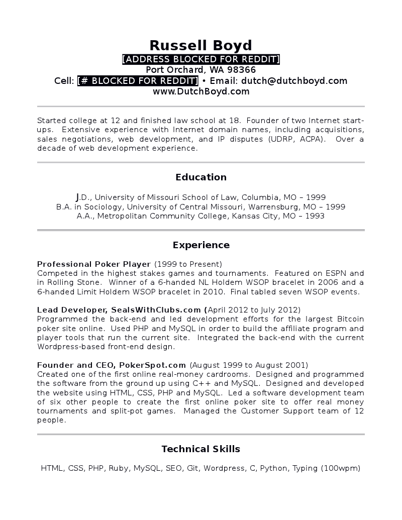 Flushdraw.net  Law School Graduate Resume