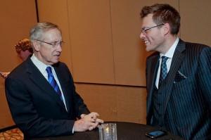 Chad Elie in happier times, meeting US Senate Majority Leader Harry Reid at a Las Vegas fundraiser.
