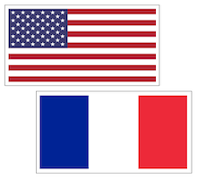 US and France Flag