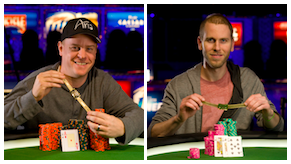 Erick Lindgren and Jeff Madsen became the latest former WSOP Player of the Year winners to earn bracelets in 2013, joining Daniel Negreanu and Tom Schneider (Photos: Eddie Malluk/WSOP)