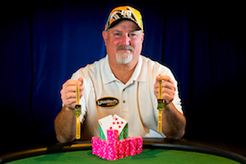 On Tuesday Tom Schneider won his second bracelet of the summer and fourth of his career (Photo: WSOP/Joe Giron)