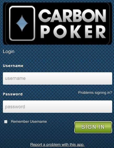 Carbon poker mobile real money