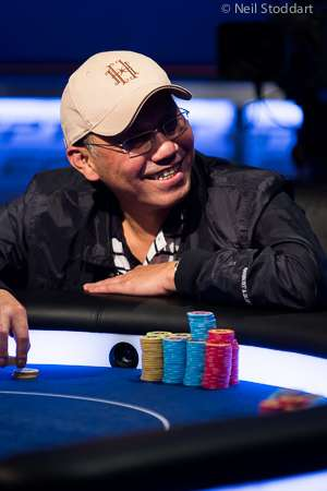 Paul Phua demonstrates his poker chops at an EPT final table.