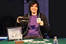 Jake Cody after his WPT London win in 2010.