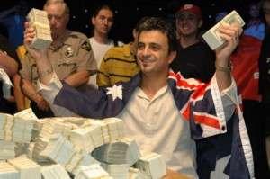 Joe Hachem wins the 2005 WSOP Main Event