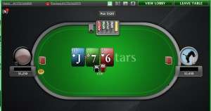 A Heads Up SnG on PokerStars