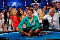 Antonio Esfandiari after winning the Big One For One Drop