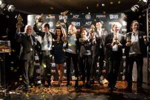 A winners Photo from the 2012 European Poker Awards