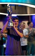 Viktor Blom after Winning an EPT Super High roller
