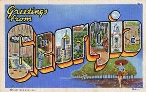 georgia postcard
