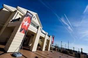 Villa Marina on a nice crisp sunny day