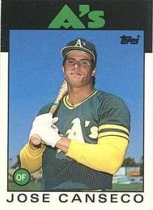 jose canseco baseball card 2