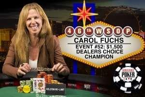 2015 WSOP Dealer's Choice Event Winner Carol Fuchs Image credit: Jamie Thompson