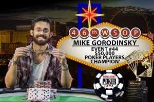 $50,000 Poker Players Championship Winner Mike Gorodinsky Photo credit: Melissa Haereiti/www.pokerphotoarchive.com