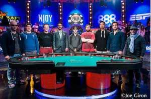 2015 WSOP November Nine Image Credit: Joe Giron/WSOP