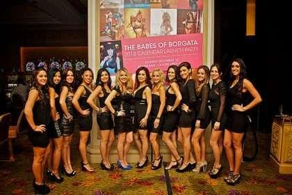 Borgata Babes Calendar party