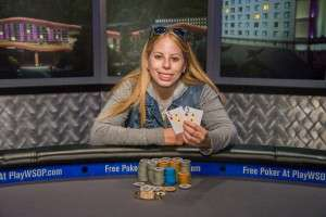 2015 WSOP National Champion Loni Harwood Photo credit: WSOP.com