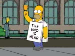 the end is near homer simpson
