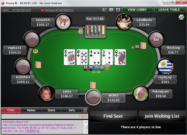 pokerstars allowed software