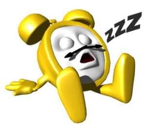 sleeping clock