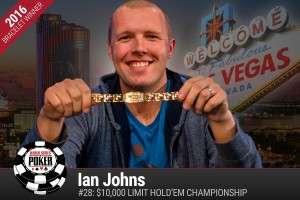 Ian Johns Image credit: WSOP.com