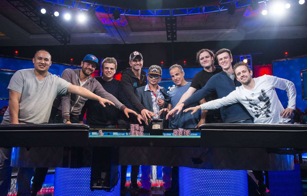 2016 WSOP Main Event November Nine Photo credit: WSOP.com
