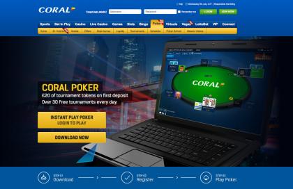 Coral Poker Homepage