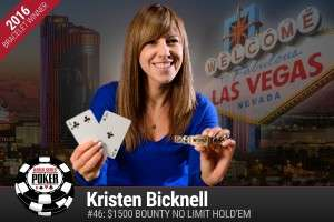 Kristen Bicknell - 2016 WSOP Image credit: WSOP.com