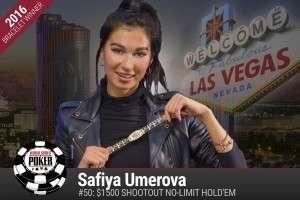 Safiya Umerova - 2016 WSOP Image credit: WSOP.com