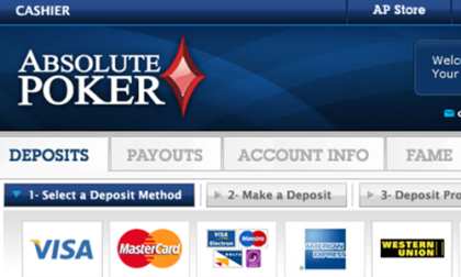 Absolute Poker Deposit Method