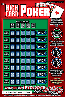 Rules Confusion Causes New Jersey Lottery to End Poker Scratch-Off