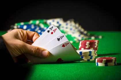 Hand of four aces in poker