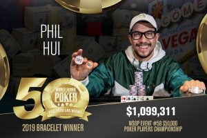 Phil Hui wins 2019 WSOP $50,000 Poker Players Championship